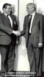 V USA po podpisu ujednání s podnikatelem Bergerem