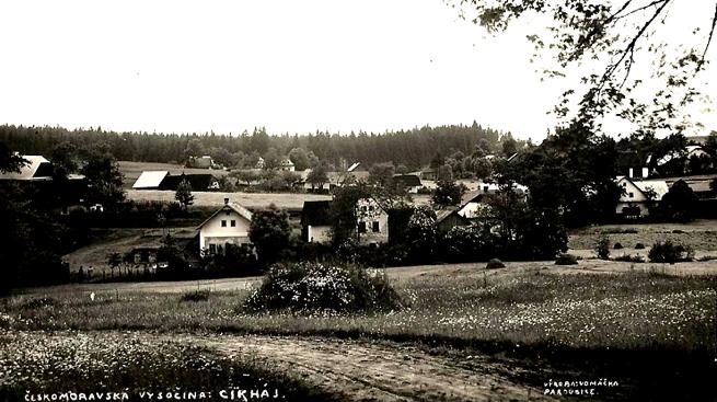 Cikháj – bývalá Kozí ulice , snímek z roku 1935