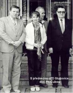 Rudolf Hegenbart s předsedou JZD Slušovice Doc. Františkem Čubou