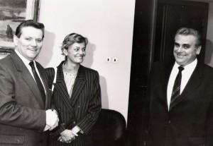 Vlevo R. Hegenbart, vpravo pan Höllter
