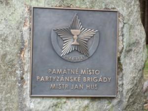 Pamětní deska na Fryšavském kopci