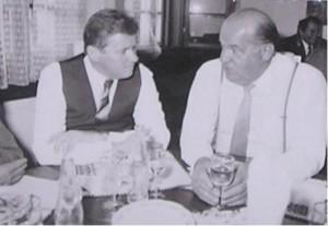 Rudolf Hegenbart v rozhovoru s tajemníkem ÚV KSČ Josefem Havlínem ve Zlíně
