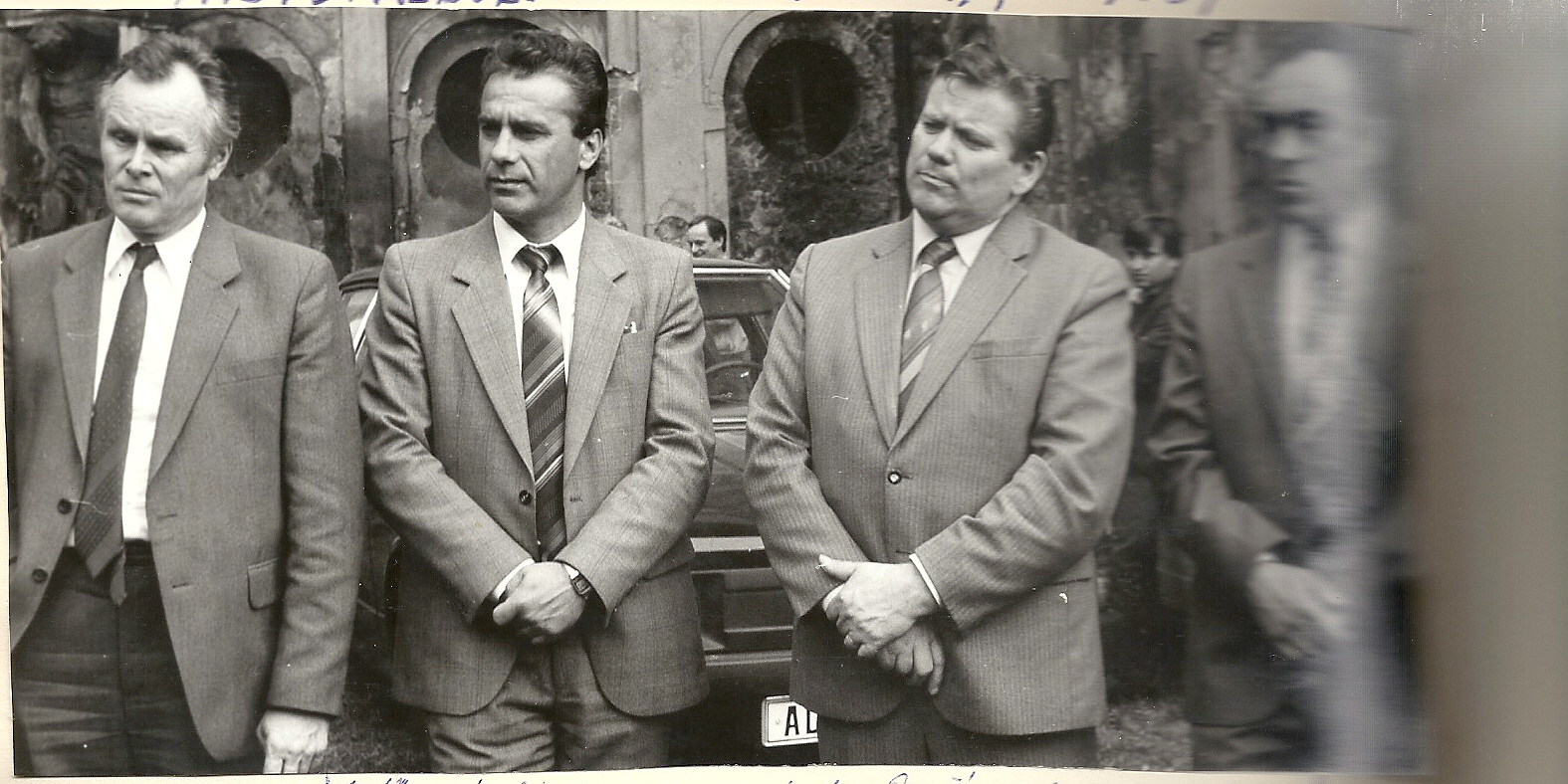 Rudolf Hegenbart při jednání o životním prostředí v Severočeském kraji v roce 1987