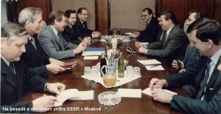 na besedě s ministrem vnitra SSSR v Moskvě