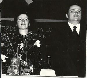 Jiřina Švorcová spolu s R. Hegenbartem ve Žďáru nad Sázavou