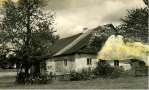Domek pana Vajse, který Němci zápálili a gestapo zatklo obyvatele